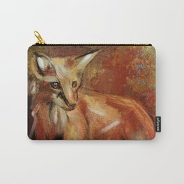 Abstract Red Fox Carry-All Pouch