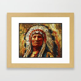 weathered chief Framed Art Print