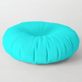 solid colour neon blue Floor Pillow