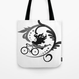 Star Girl Bike Swirl Tote Bag