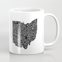 Typographic Ohio Coffee Mug