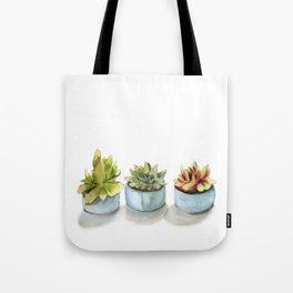 Succulents watercolor painting Tote Bag