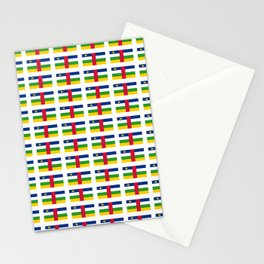 Flag of Central African Republic,car, Bêafrîka,centrafrique,Central African, centrafricain,Oubangui- Stationery Cards