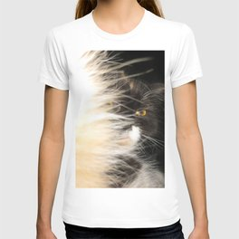 Fluffy Calico Cat T-shirt