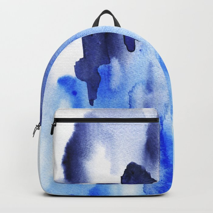 Boho Blue Watercolor Backpack