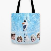 olaf Tote Bags featuring FROZEN OLAF  by BESTIPHONE5CASESHOP