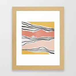 Modern irregular Stripes 01 Framed Art Print