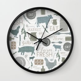 Modern Farmhouse // Gather Round & Give Thanks Wall Clock