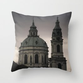St. Nicholas Church Prague Throw Pillow