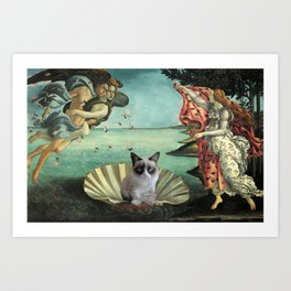 Birth Of Grumpy Cat Art Print