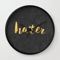 2pac Wall Clocks featuring Hater by Text Guy
