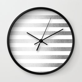 Simply Striped Moonlight Silver Wall Clock
