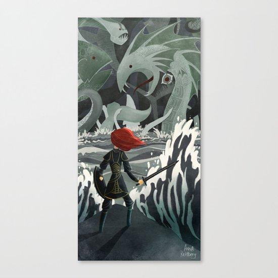 Sea Monsters Canvas Print