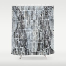Ciudad interior (Inner city) Shower Curtain