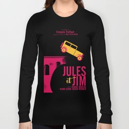 Jules et Jim, François Truffaut, minimal movie Poster, Jeanne Moreau, french film, nouvelle vague Long Sleeve T-shirt