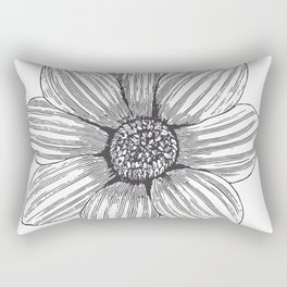Engraved Flower Bud Rectangular Pillow