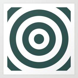 Target (Dark Green & White Pattern) Art Print