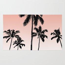 Sunset palms Rug