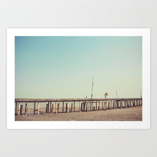 Love Bridge Art Print
