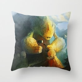 Mountain Birth Throw Pillow