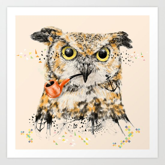 Mr.Owl II Art Print