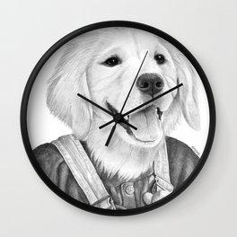 My Boy The Golden Retreiver Wall Clock