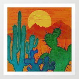 Desert Sun 2 Art Print