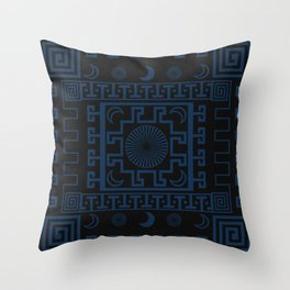 Midnight - Cool Variant Throw Pillow