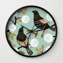 Winterbirds Wall Clock