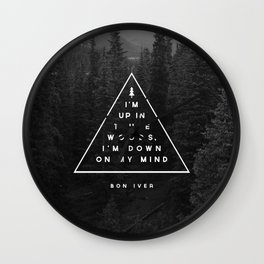 Woods -- Bon Iver Wall Clock