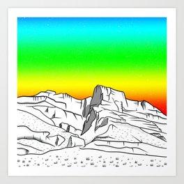 Notch Peak Sawtooth Mountain Art Print