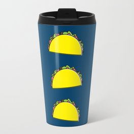 omg tacos! on navy Travel Mug