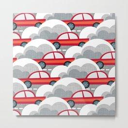 Papercut Cars Metal Print