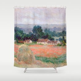Haystacks at Giverny by Claude Monet Shower Curtain