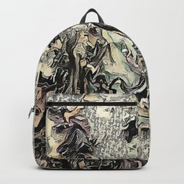 Texture Overlay Abstract Design Backpack