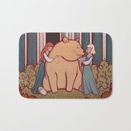 Snow White and Rose Red Bath Mat