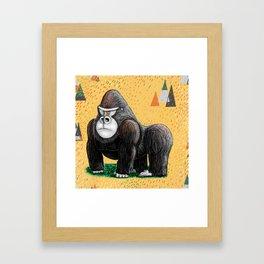 Endangered Rainforest Mountain Gorilla Framed Art Print