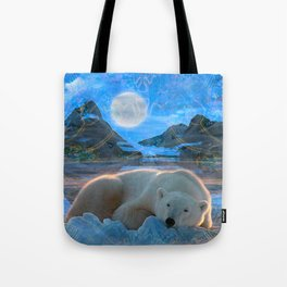 Just Chilling and Dreaming (Polar Bear) Tote Bag