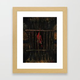 Pyramid Head (That Red Pyramid Thing) Framed Art Print
