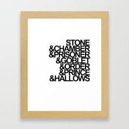 Harry Potter Ampersand Framed Art Print