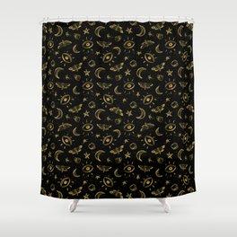 Midnight Coffee Shower Curtain