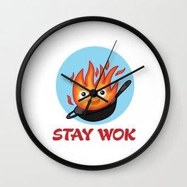Stay Wok Wall Clock