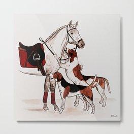 HORSE & FOXHOUNDS Metal Print