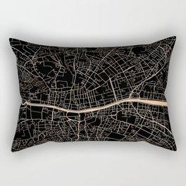 Gold and black Dublin map Rectangular Pillow