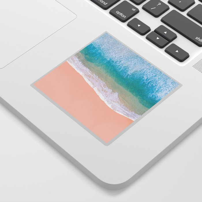 Ocean in Millennial Pink Sticker