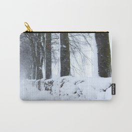 Snow fall in Huertgen Forest Carry-All Pouch