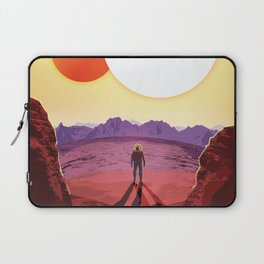 NASA Retro Space Travel Poster #8 Kepler 16b Laptop Sleeve