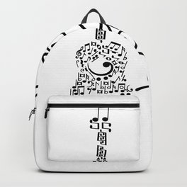 eat sleeps play guitar repeat Backpack