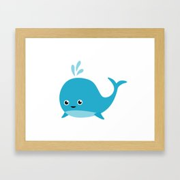 Cute Baby Whale Framed Art Print