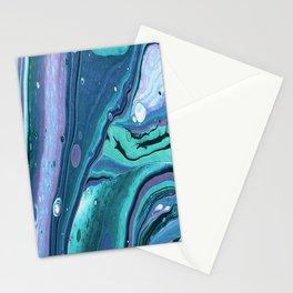 Acrylic Fluid Art Stationery Cards